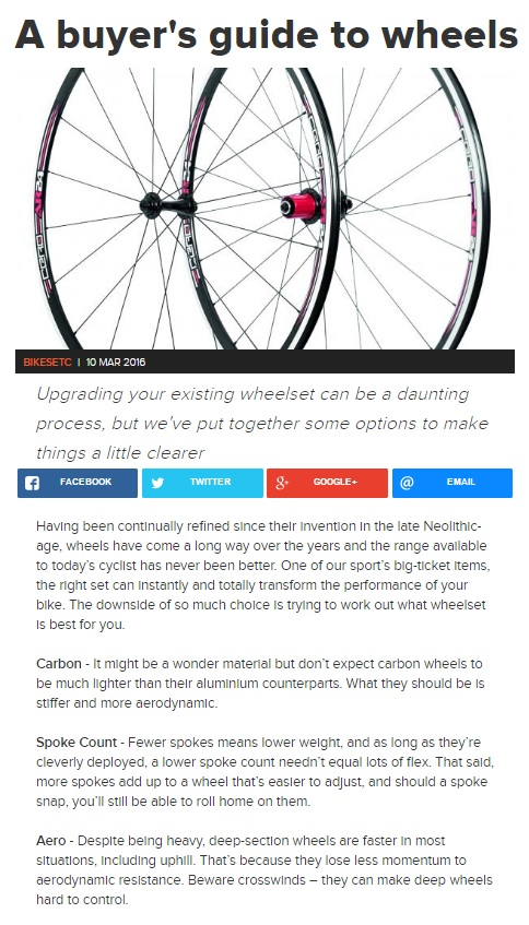 Buying Guide features Cero Wheels