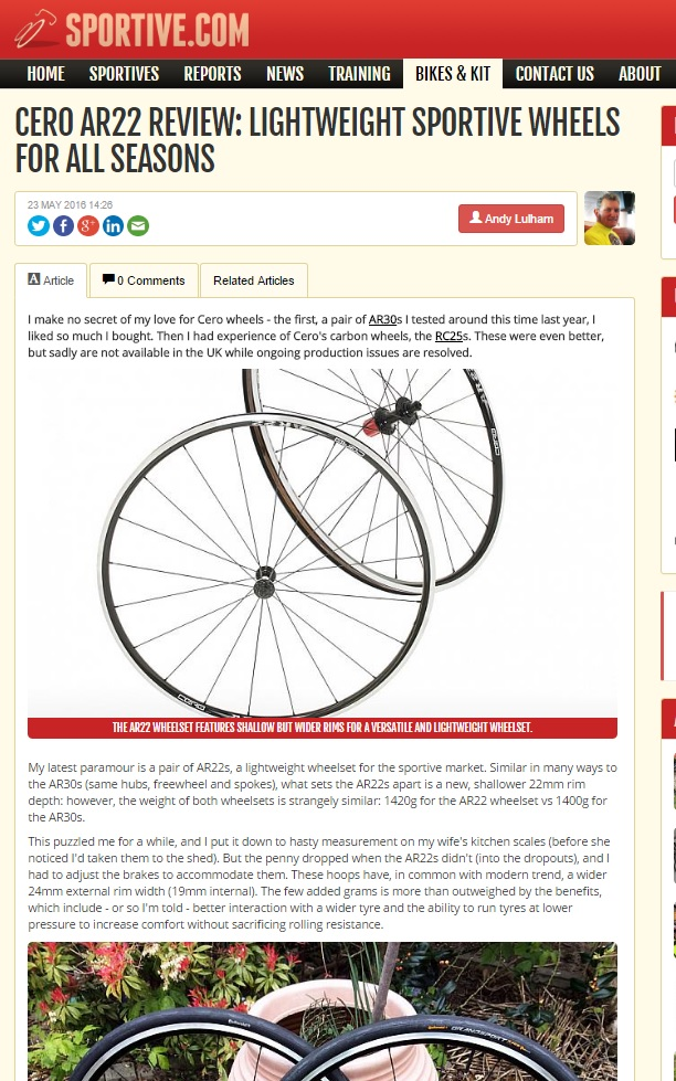 CERO AR22 REVIEW: LIGHTWEIGHT SPORTIVE WHEELS FOR ALL SEASONS