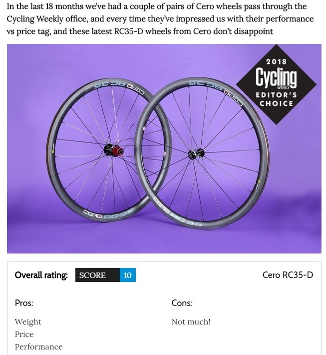 Cycling Weekly Reviews Cero RC35-D